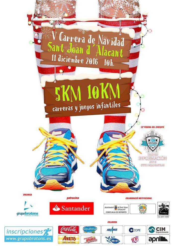 V 5K 10K Carrera de Navidad Sant Joan D´Alacant 2016